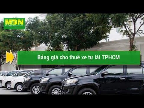 Bảng giá cho thuê xe tự lái TPHCM