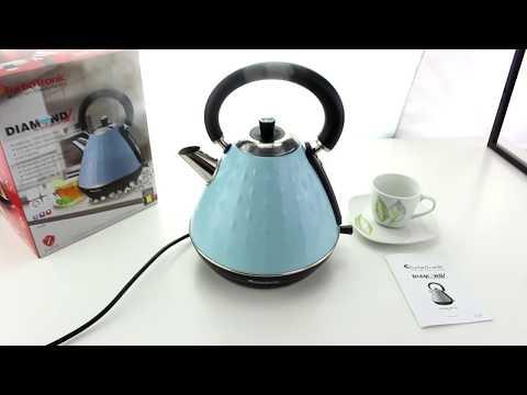 Unboxing 2200 Watt Edelstahl Wasserkocher im stylischen Retro Design 1,7 Liter DimondZ