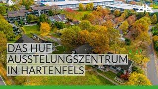Erhalten Sie einen eindrucksvollen Einblick in das Musterhauszentrum Hartenfels und in die moderne Fertigung von Huf Haus.