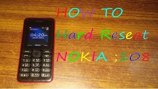 How to remove input password from nokia 108 China - Most