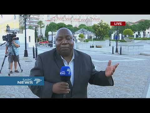 President Zuma leaves Parliament following discussions