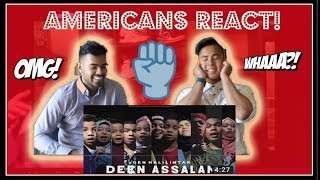 Gambar cover AMERICANS REACTS to DEEN ASSALAM Cover by GEN HALILINTAR | Fusha Version