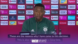 David Alaba announces he is leaving Bayern Munich after 13 years