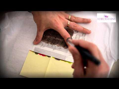 Pochoir Musique A6 Peinture textile ADEUXMAINS