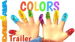 🌈 Finger Family Colors – Trailer | Learn Colors | Nursery Rhymes for Kids from Dave and Ava 🌈