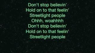 Journey - Don't Stop Believin' w/ Lyrics (Midnight Train)