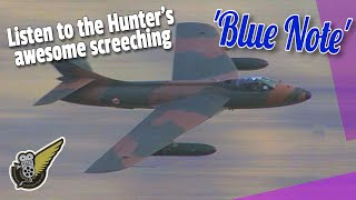 Hawker Hunter jet fighter - Low and Fast