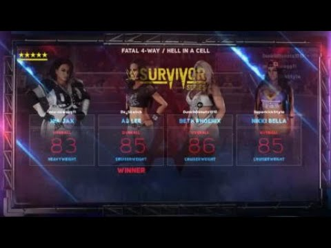 WWE 2K18: Nia Jax vs AJ Lee vs Beth Phoenix vs Nikki Bella