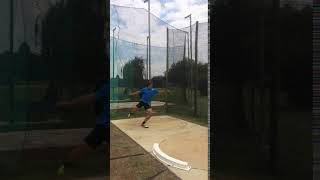 Adam Helcelet Discus Throw side view training camp 2018