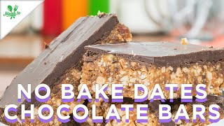 No Bake Dates Chocolate Bars