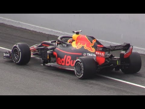 Red Bull RB14 Powered by Renault in Action at Barcelona & Monza Circuit