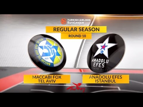 EuroLeague Highlights RS Round 10: Maccabi FOX Tel Aviv 77-86 Anadolu Efes Istanbul