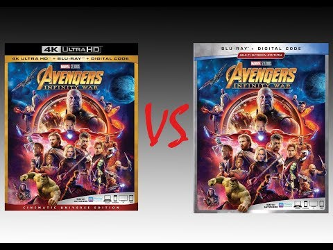 ▶ Comparison of Avengers: Infinity War 4K HDR10 vs Infinity War 2018 Blu-Ray Edition