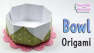 Origami :  Mangkuk, Piring, Mangkuk, Kotak