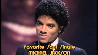 Michael Jackson Wins Favorite Soul Single- American Music Awards 1980