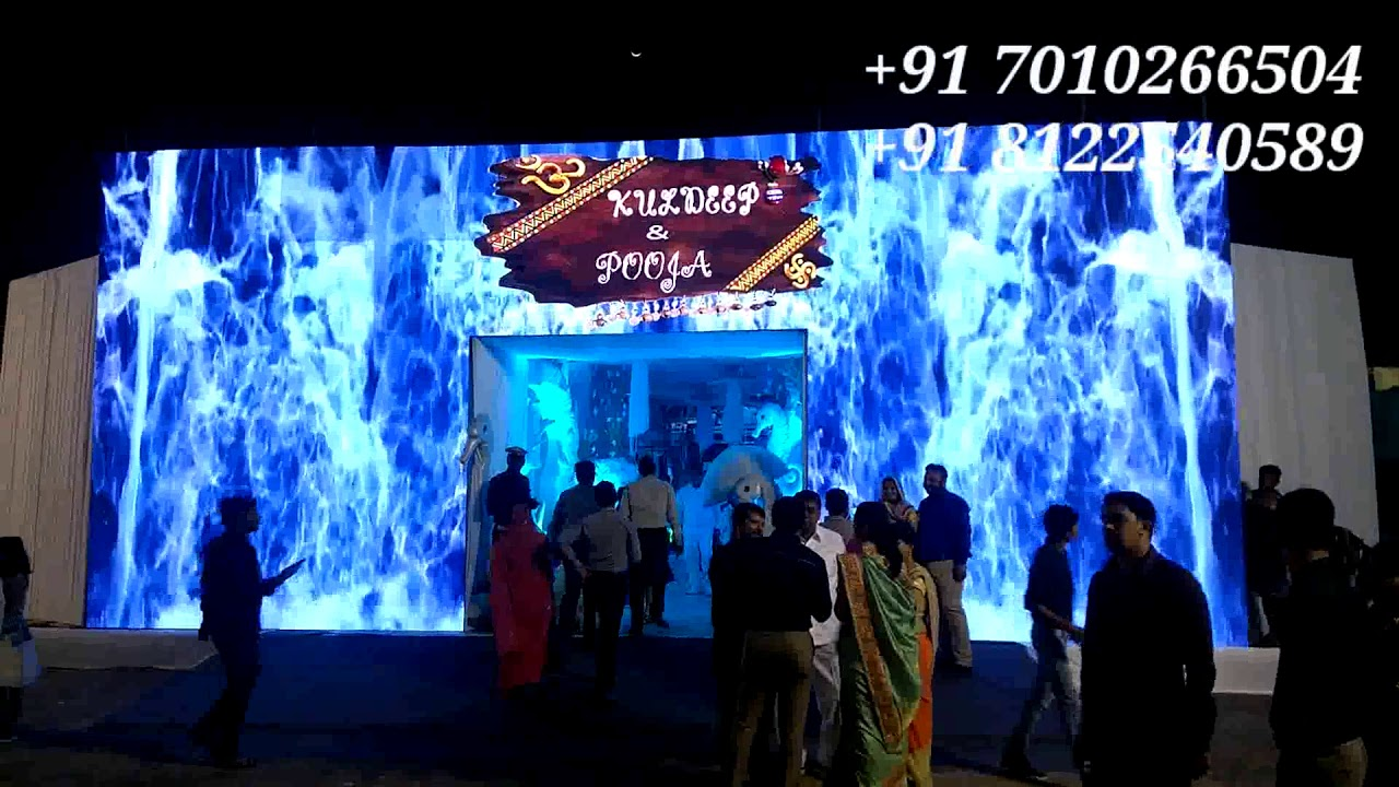 LED Arch Gate Waterfall Entry Wedding Reception Event Decoration Tamil Nadu India 91 8122540589