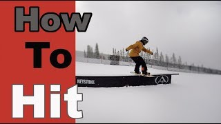 How To Hit A Box On A Snowboard For Beginners #Snowboarding #howto #colorado #vail #skiing