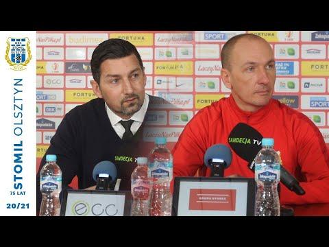 Trenerzy po meczu Stomil Olsztyn - Sandecja Nowy Sącz 5:0