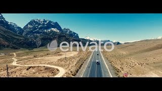 New Aerial video footages in envato