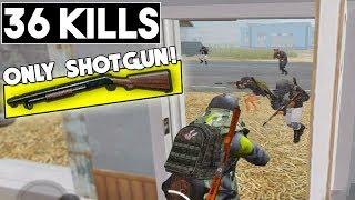 SHOTGUN ONLY CHALLENGE! | 36 KILLS vs SQUAD! | PUBG Mobile