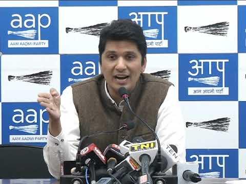 Aap Chief Spokesperson Saurabh Bhardwaj exposes LG of Delhi on his performance on Delhi