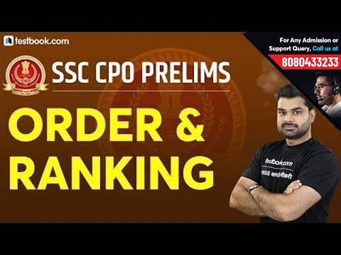 Order and Ranking in Reasoning   SSC CPO Prelims Classes   Crack SSC CPO 2019   Abhinav Sir