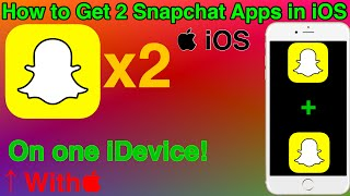 How To Get 2 Snapchat Accounts on 1 Device (iOS) - 2 Snapchat Accounts on 1 iOS Device -xStore Tweak
