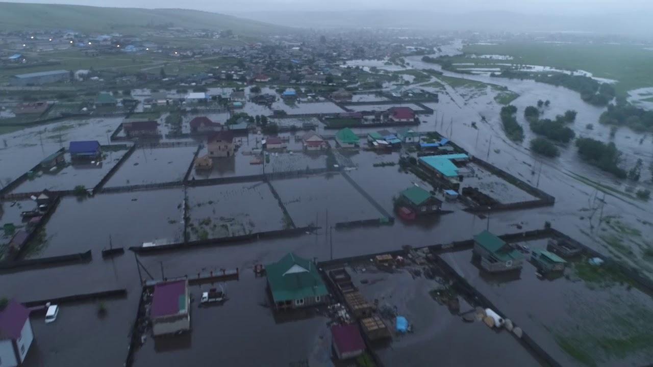 Наводнение в городе Шилка Читинской области