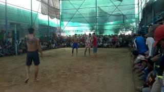 Bóng chuyền 3-3: Khanh super, Tý Trâu, Đăng - Cambodia P1