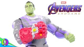 """HULK with NANO INFINITY GAUNTLET"" Avengers Endgame Figure Review   Hasbro Basic"