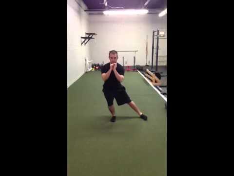 1/4 squat w/ 3 way reach