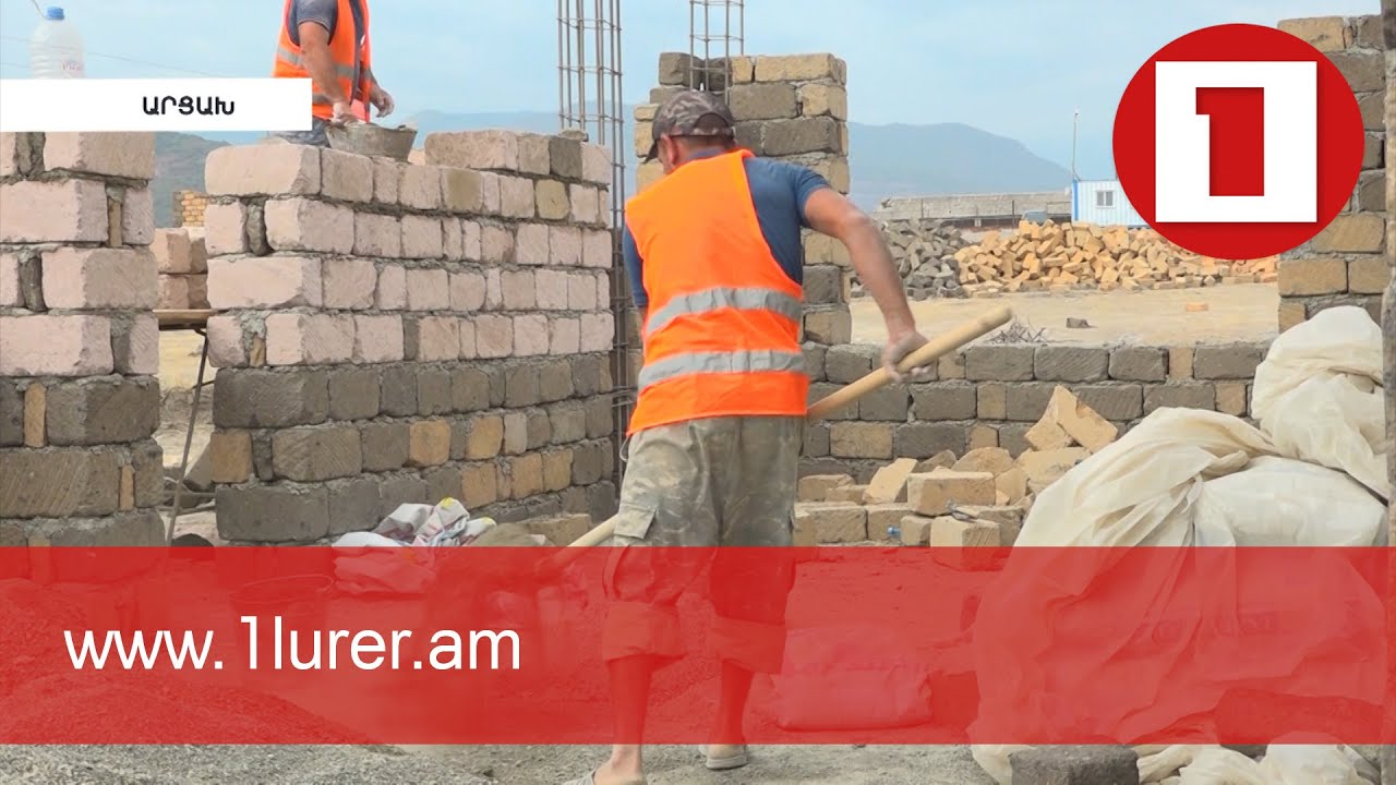 Large-scale construction of houses is underway in Artsakh