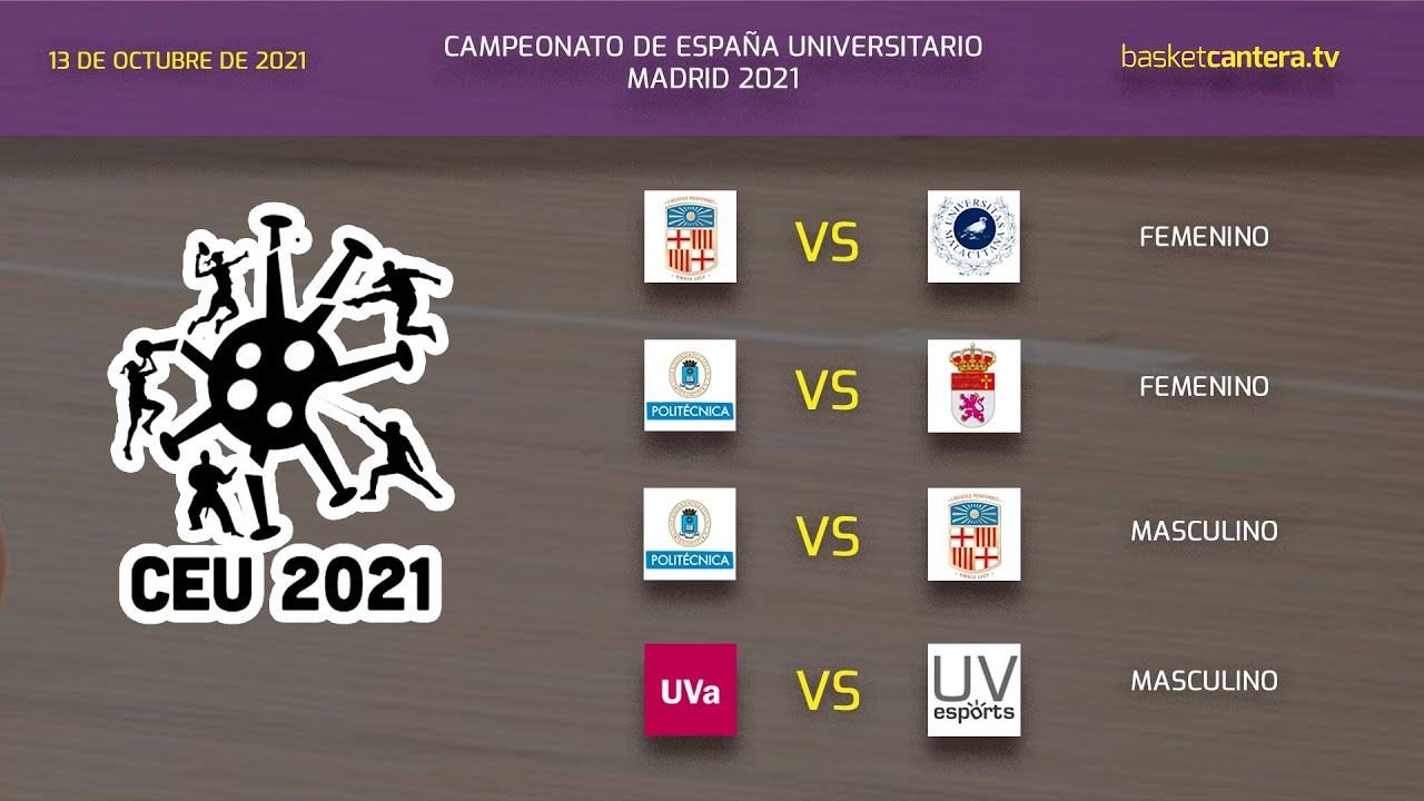 Campeonato España Baloncesto Universitario 2021. VÍDEO 6 - Partidos Sede U. Politécnica - Día 2 (mañana)