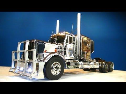 RC ADVENTURES – Tamiya 1/14 RC Chrome King Hauler Semi Truck Futaba MFC-01 6″ Stretch