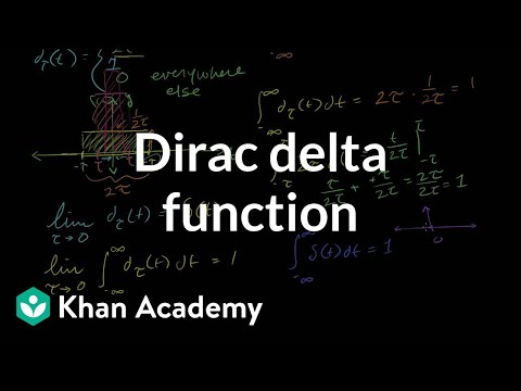 Dirac delta function (video) | Khan Academy