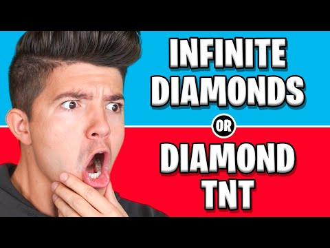Would You Rather have INFINITE Diamonds or DIAMOND TNT! - Minecraft