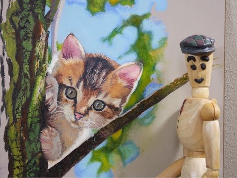 Let's paint a Tabby Kitten. Ep.9