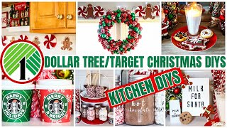 DOLLAR TREE KITCHEN CHRISTMAS DIYS * TARGET KITCHEN DIY