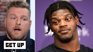 Pat McAfee: Lamar Jackson was a cheat code vs. the Patriots and defenses can't stop him   Get Up