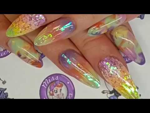 Zapp Lolly Nails, including, marbling, ombre, glitter embedding