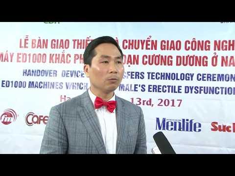 Ông Nguyễn Bá Toàn – Giám đốc công ty cổ phần tư vấn phát triển sức khỏe Việt Nam nói về ED1000 tại buổi lễ