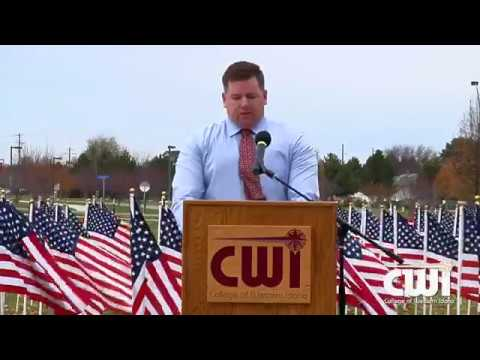Matt Collard speaks at CWI Veterans Day 11 10 2017