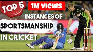 Top 5 - Instances of Sportsmanship in Cricket | Simbly Chumma - 54