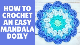 How To Crochet A Quick  SUMMER DOILY/MANDALA  By RadCrochet - STEP BY STEP Fully Explained Tutorial