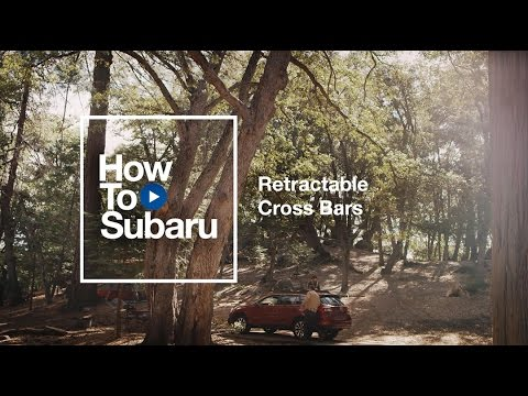 Subaru How-to: Using Your Retractable Roof Cross Bars