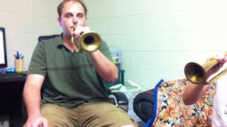 Learning how to play Taps on the Bugle