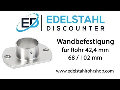 Edelstahlrohr Wandbefestigung für Rohr 42,4 mm