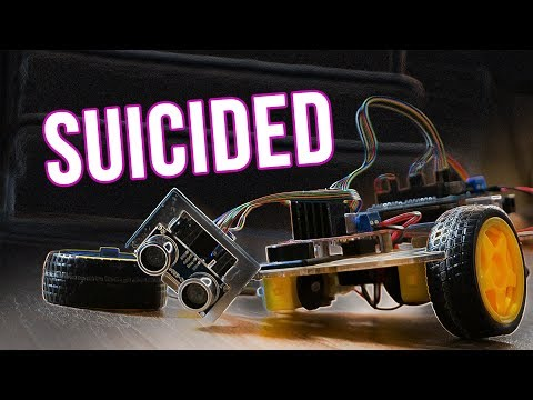 How my robot took its own life! Arduino obstacle avoiding robot car test and bad ending!(Banggood)