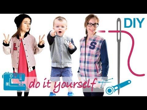 """DIY Unisex Collegejacke für Kinder und Damen mit Knöpfen nähen – Zierstoff Schnittmuster """"Heaven"""""""