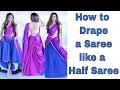 How to wear a Cancan Saree   Tia Bhuva